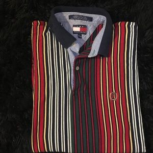 Tommy Hilfiger vertical striped polo